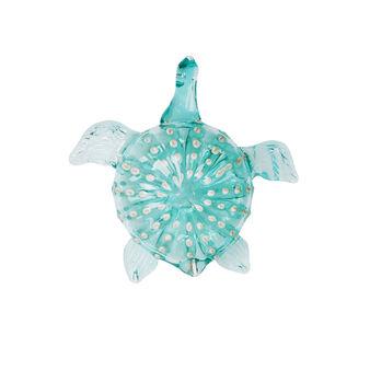 Handmade decorative glass turtle