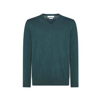 Luca D'Altieri 100% cotton top with V-neck