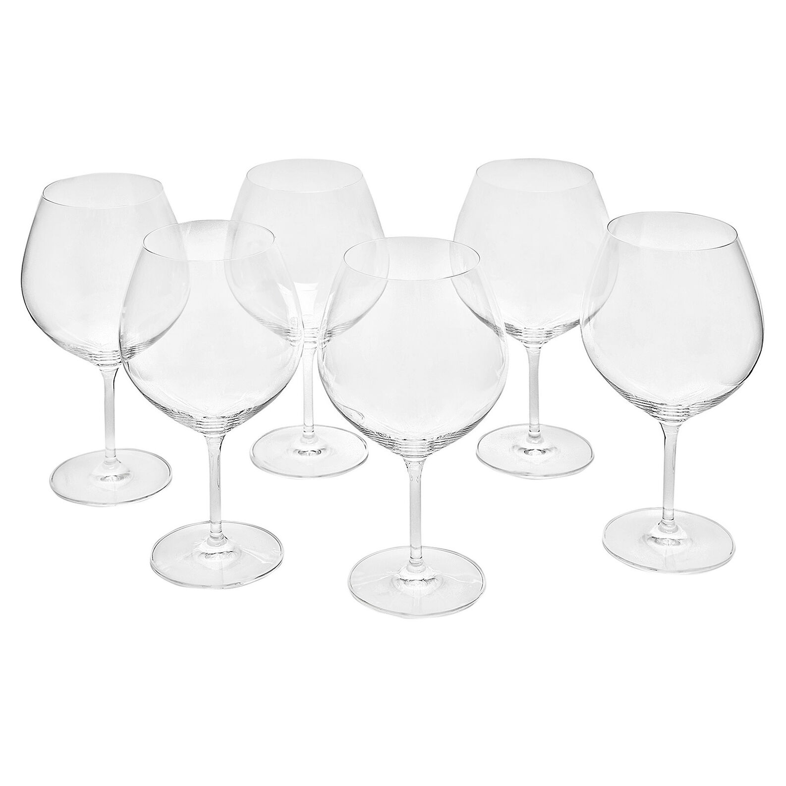 Set of 6 Cru goblets