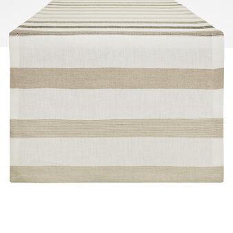Pure linen striped runner
