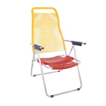 Cargo Spaghetti armchair in PVC and aluminium