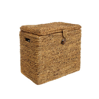 Maxi hand-woven water hyacinth basket