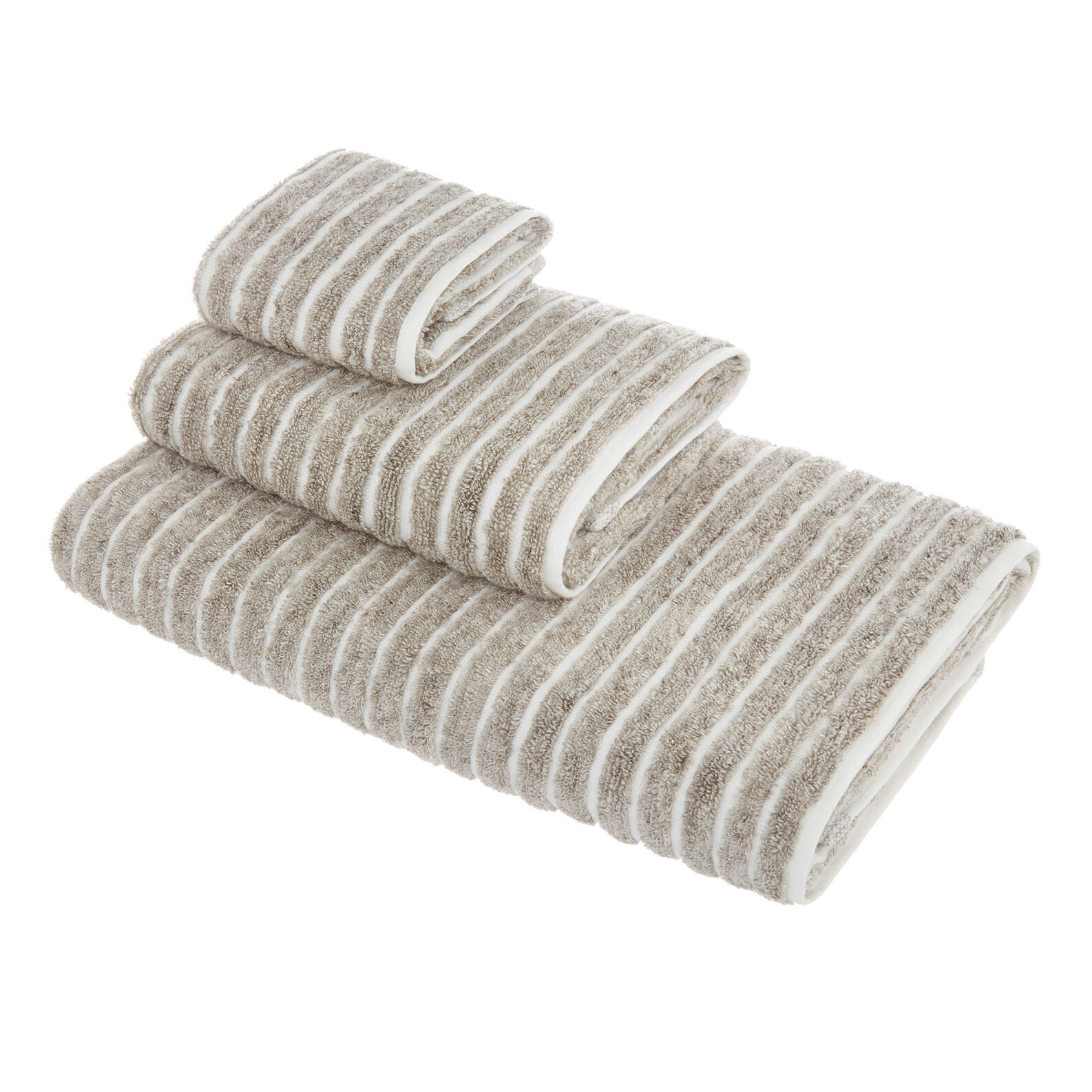 Thermae striped towel in 100% cotton