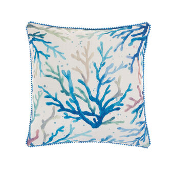 Cuscino ricamo coralli 45x45cm