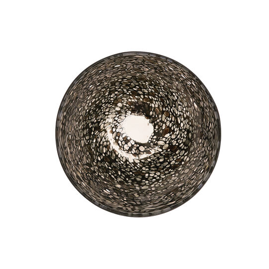 Decorative coloured glass bowl with mosaic effect