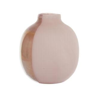 Vaso vetro colorato in pasta fatto a mano
