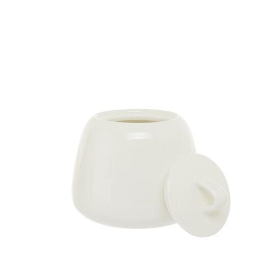 Solid color new bone china sugar bowl