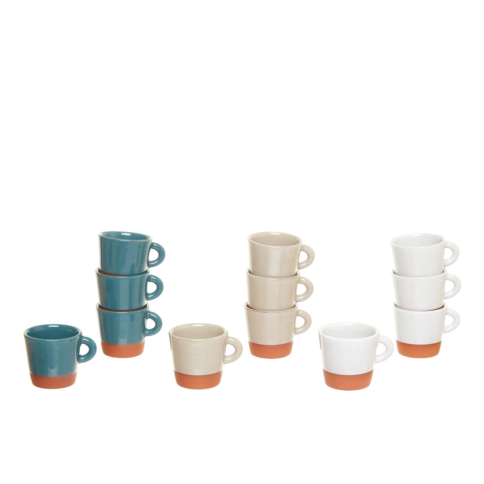Coloured terracotta coffee cup