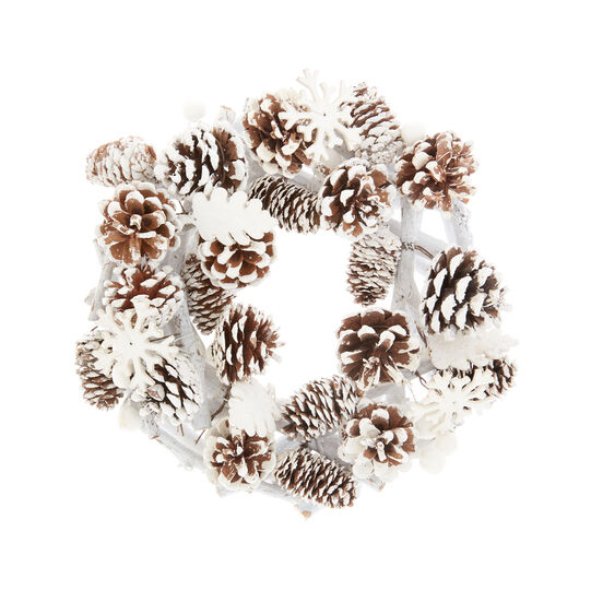 Decorative snow-effect wreath