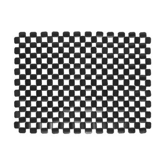 Wooden table mat with mosaic effect