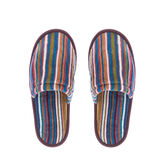 Striped cotton slippers