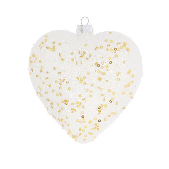 Hand-decorated glitter heart