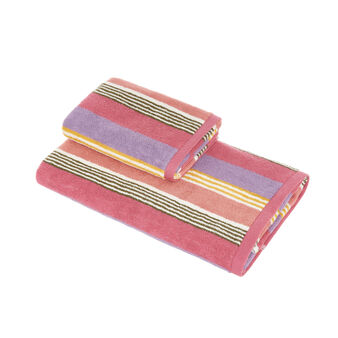 100% cotton striped towel