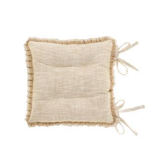 Mélange seat pad with lace trim