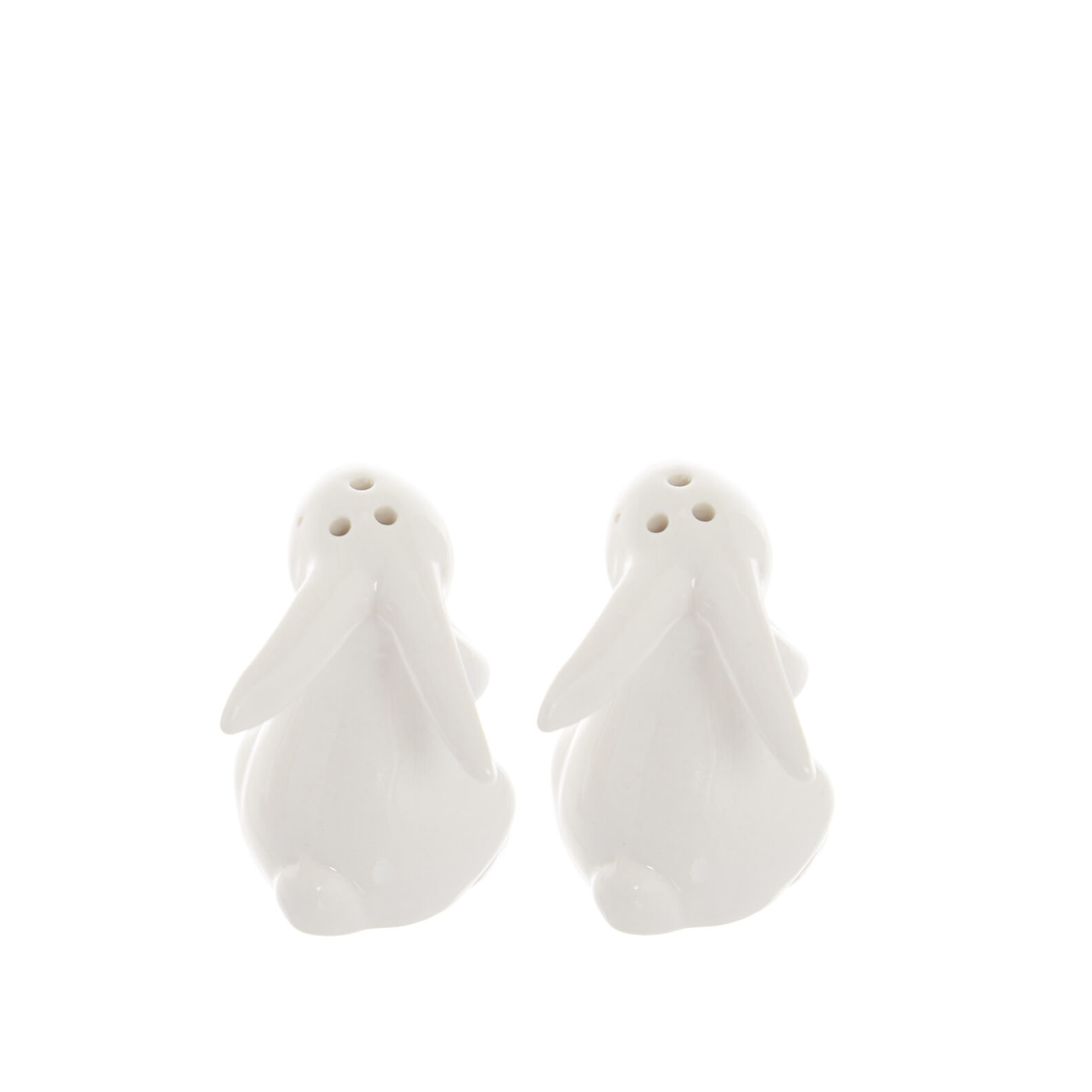 Porcelain rabbit salt and pepper set