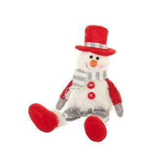 Fabric snowman decoration