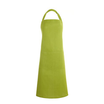 Bib apron iridescent cotton