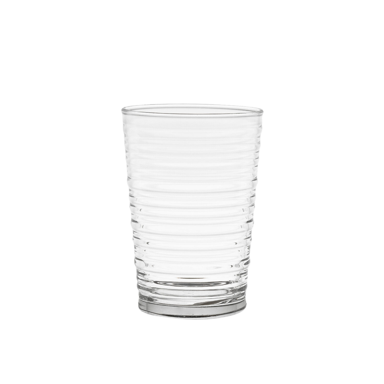 Water tumbler with fluting