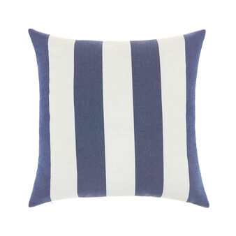 Water-repellent fabric cushion with striped pattern