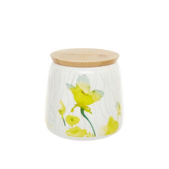 Barattolo new bone china fiori gialli