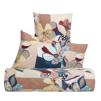 Parure letto puro cotone fantasia a fiori astratti