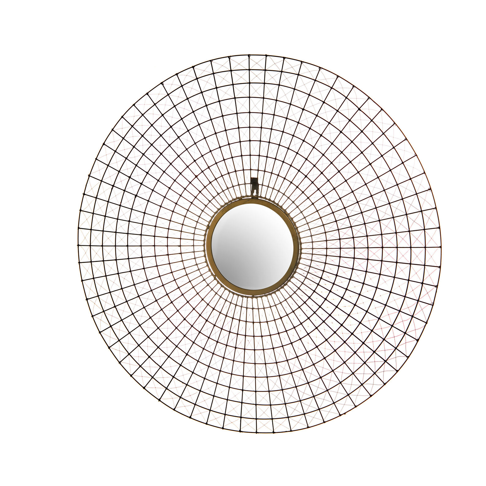 Round mirror in iron wire