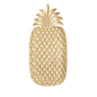 Piatto decorativo ad ananas rifinito a mano