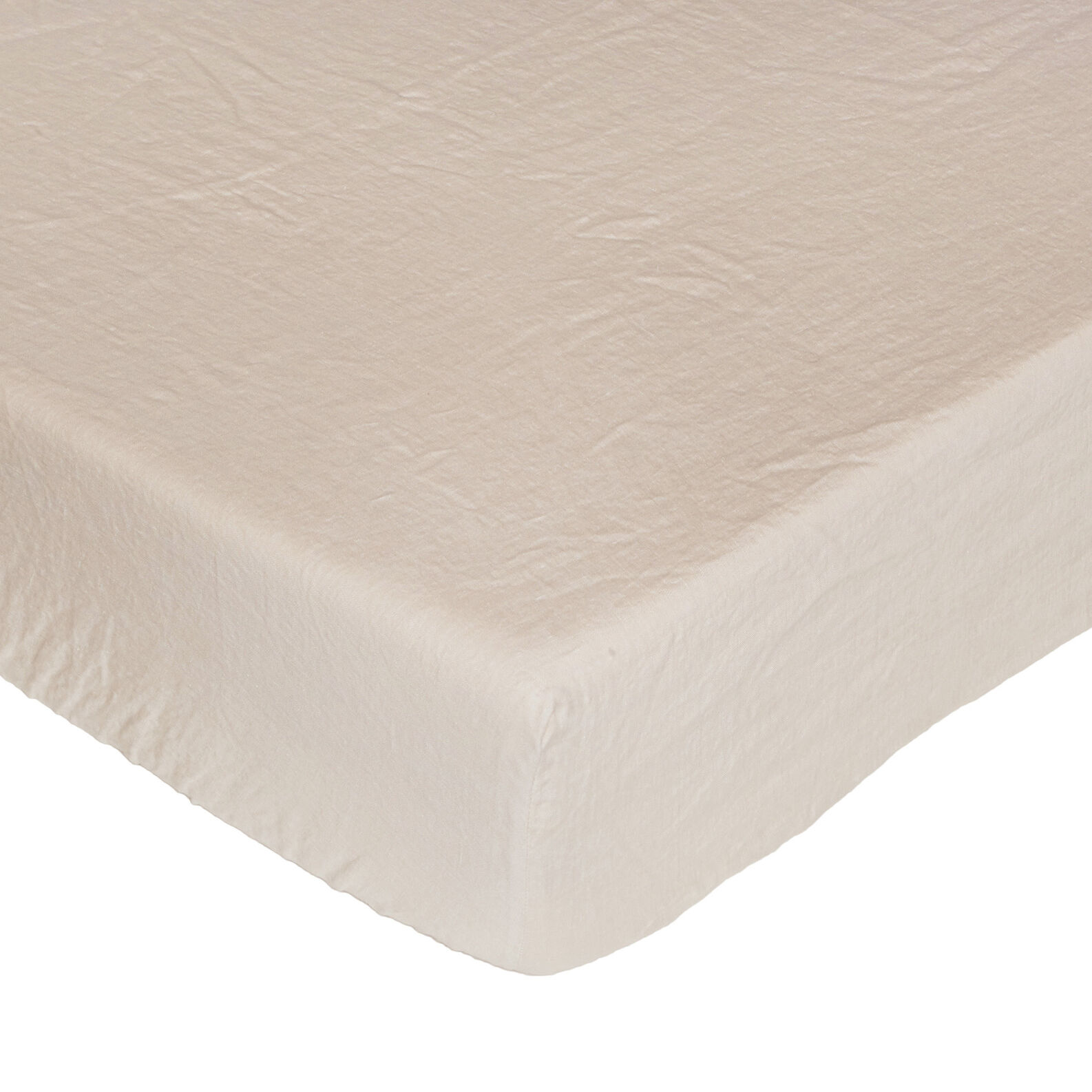 Plain fitted sheet in 145 g linen