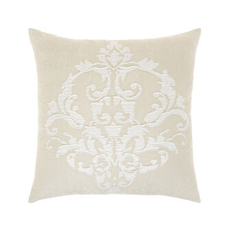 Embossed cushion with ornamental motif 50x50cm