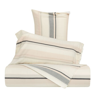 Cotton jacquard striped duvet cover