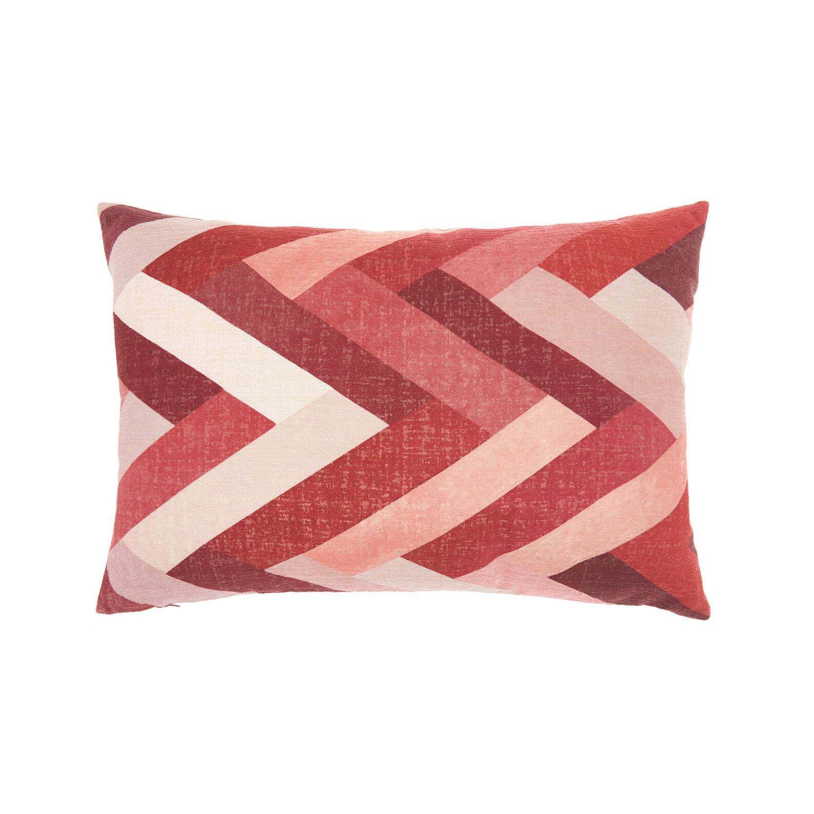 Velvet cushion with zigzag print (35x55cm)