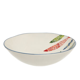 Hand-painted ceramic salad bowl