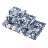 Asciugamano cotone velour fantasia a quadretti