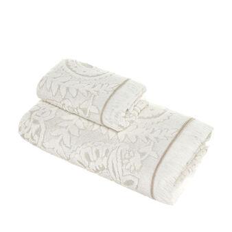 Portofino 100% cotton jacquard paisley towel