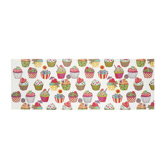 Cotton mat with cupcakes print by Sandra Jacobs design