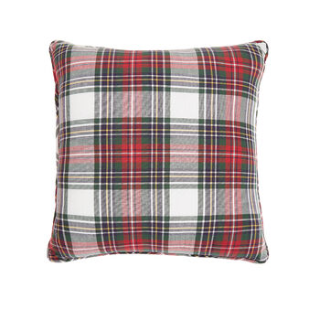 Tartan warm cotton cushion