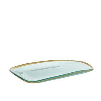 Vassoio vetro bordo oro