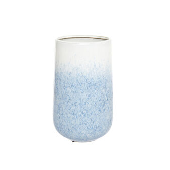 Shaded enamel ceramic vase
