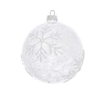 Sfera fiocco di neve decorata a mano