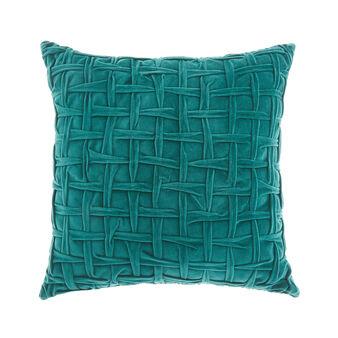 Quilted velvet cushion 45x45cm