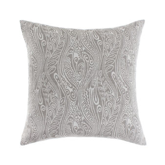 Jacquard cushion with paisley pattern