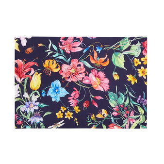Cotton twill table mat with floral print