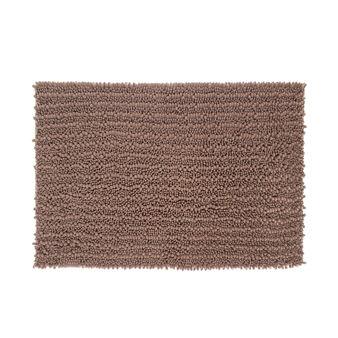 Shaggy bath mat in microfibre