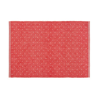 100% cotton table mat with polka dot embroidery
