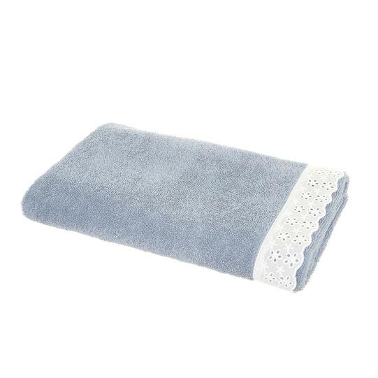 Asciugamano puro cotone ricamo sangallo