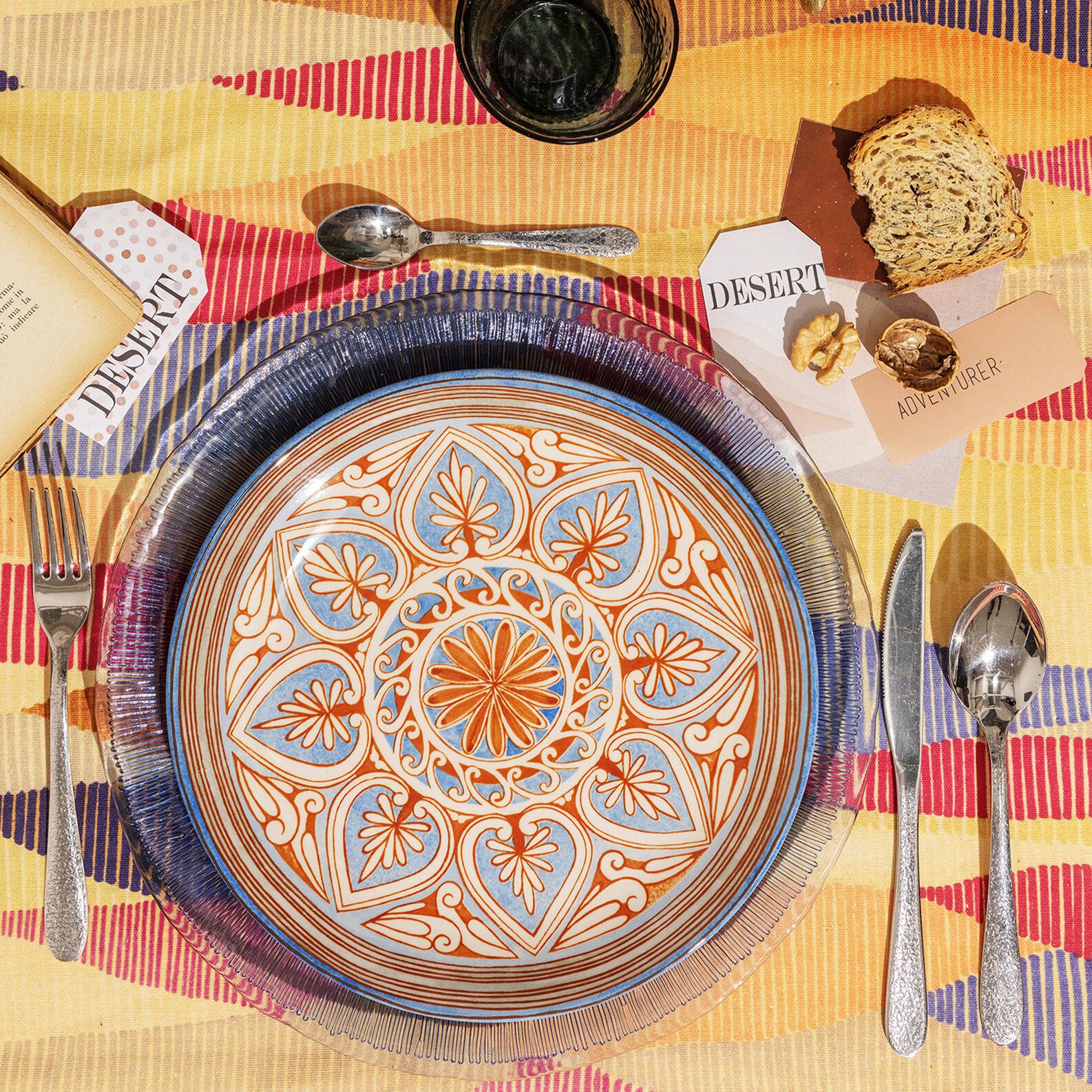 Set of 18 Majolica ceramic plates