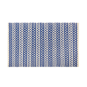 100% cotton mat with yarn-dyed motif
