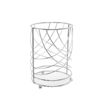 Steel wire utensil holder