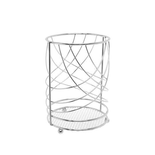 Steel wire utensil holder
