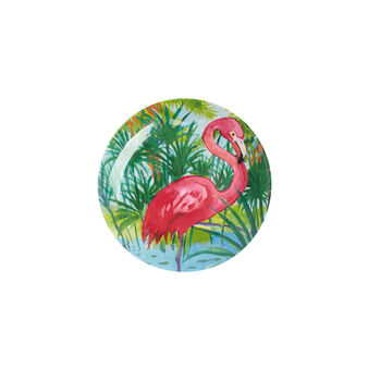 Melamine side plate with flamingos